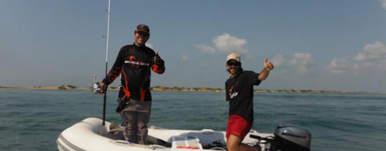 Pesca spinning marítimo: ¿Barca, kayak o pato en el mar? Tu eliges