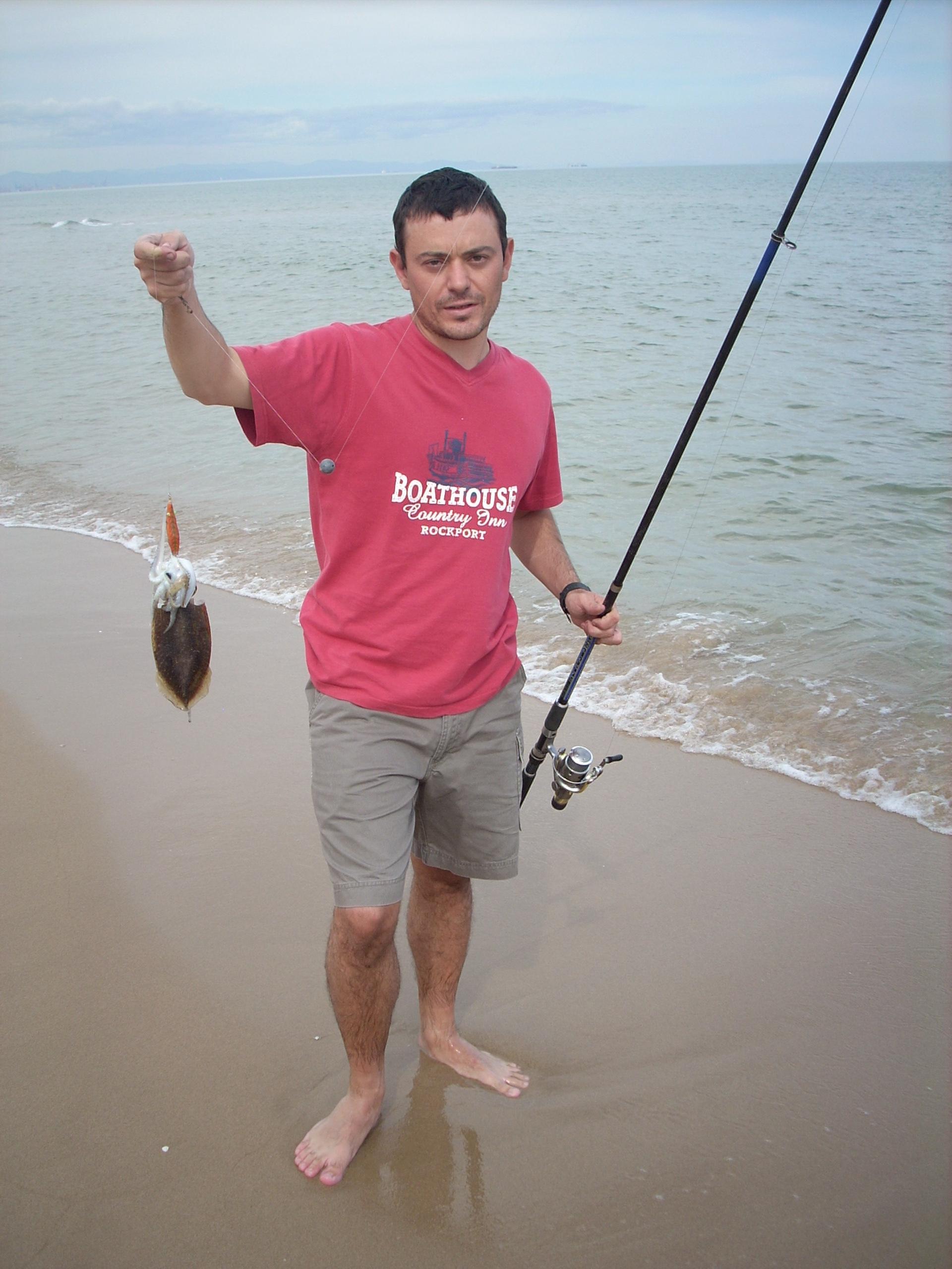 Como pescar sepias desde la orilla con Carlos Montero