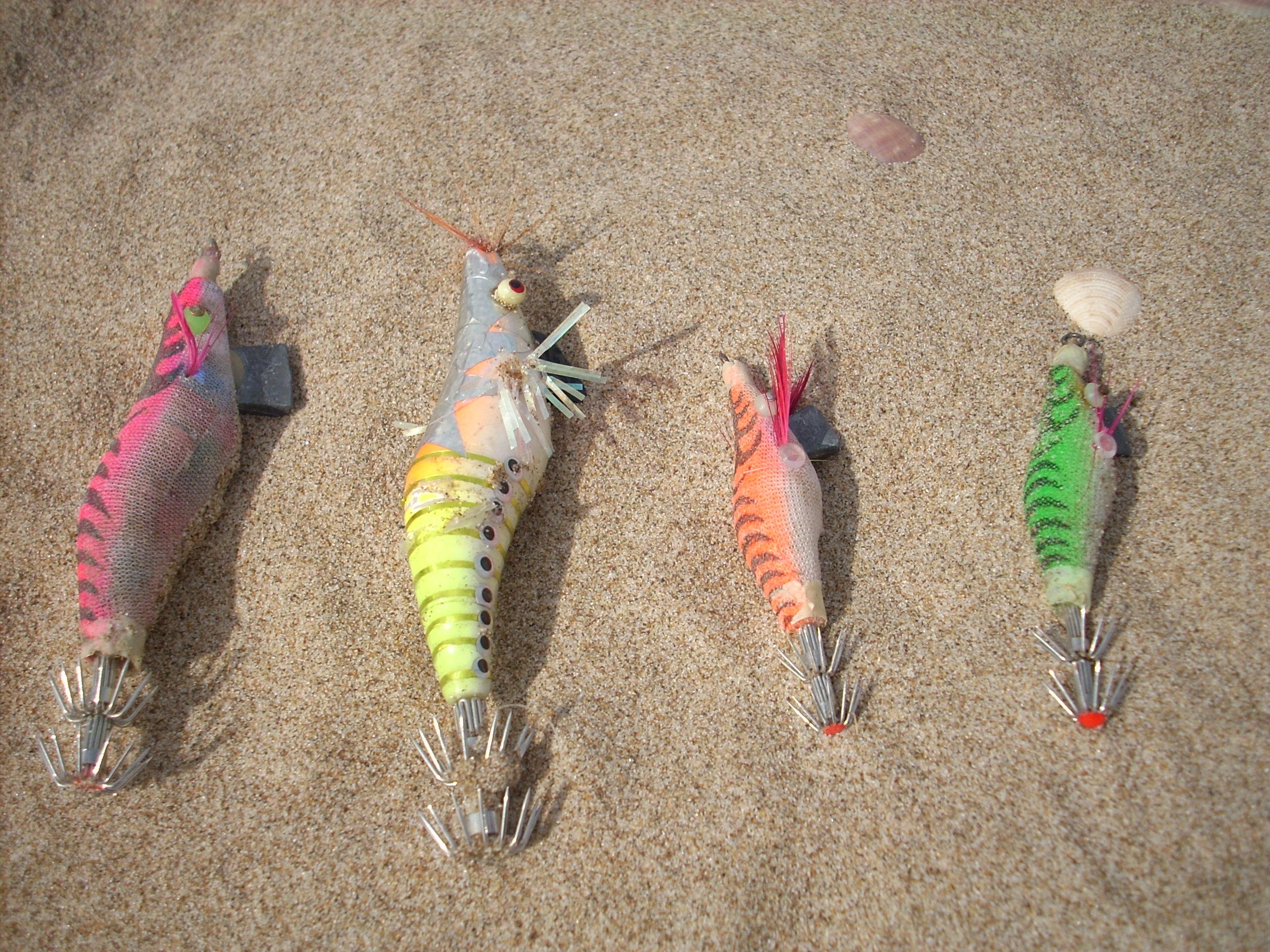 pescar sepias desde la orilla con jibioneras