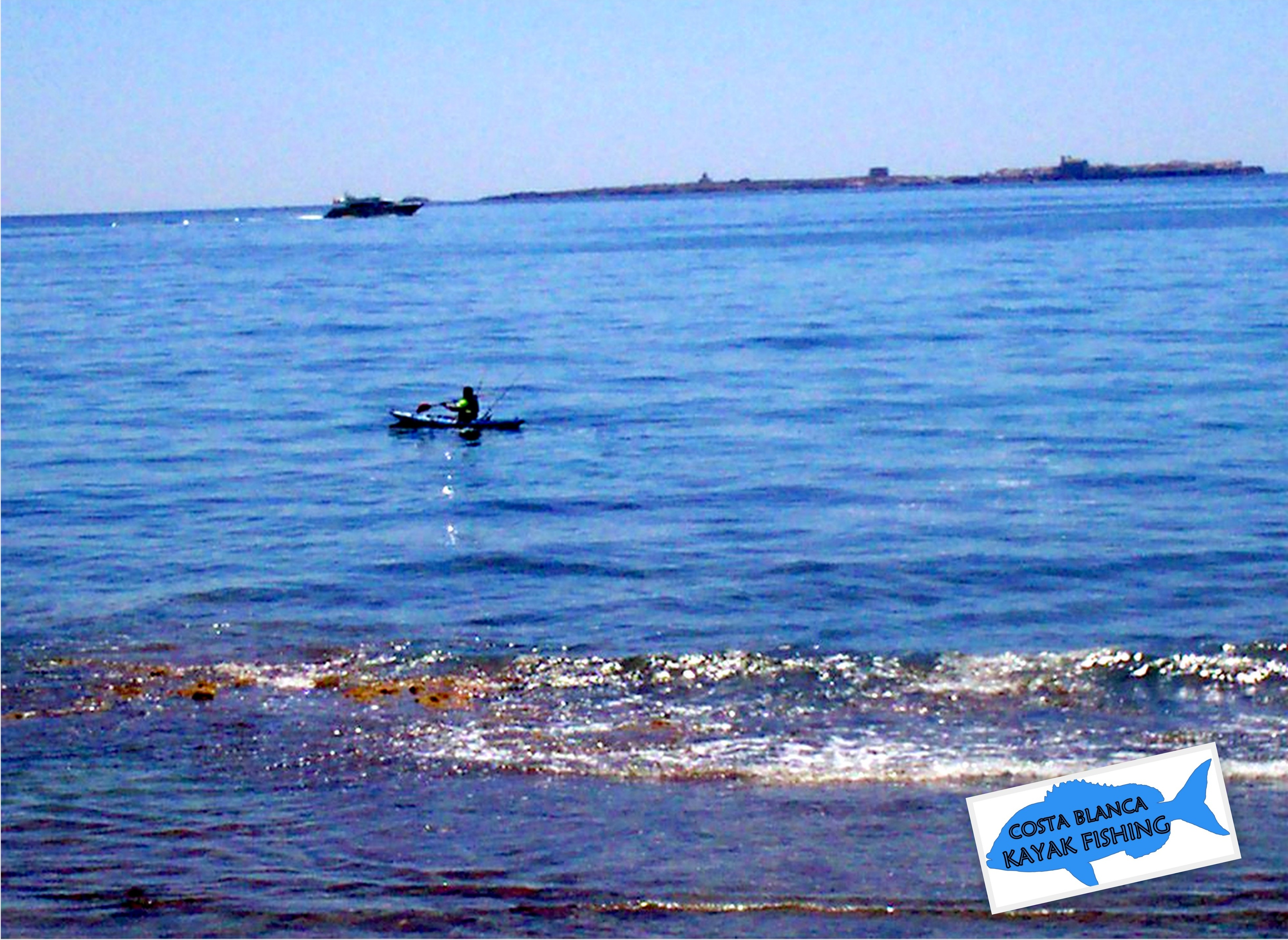 Disfrutando con la pesca con kayak