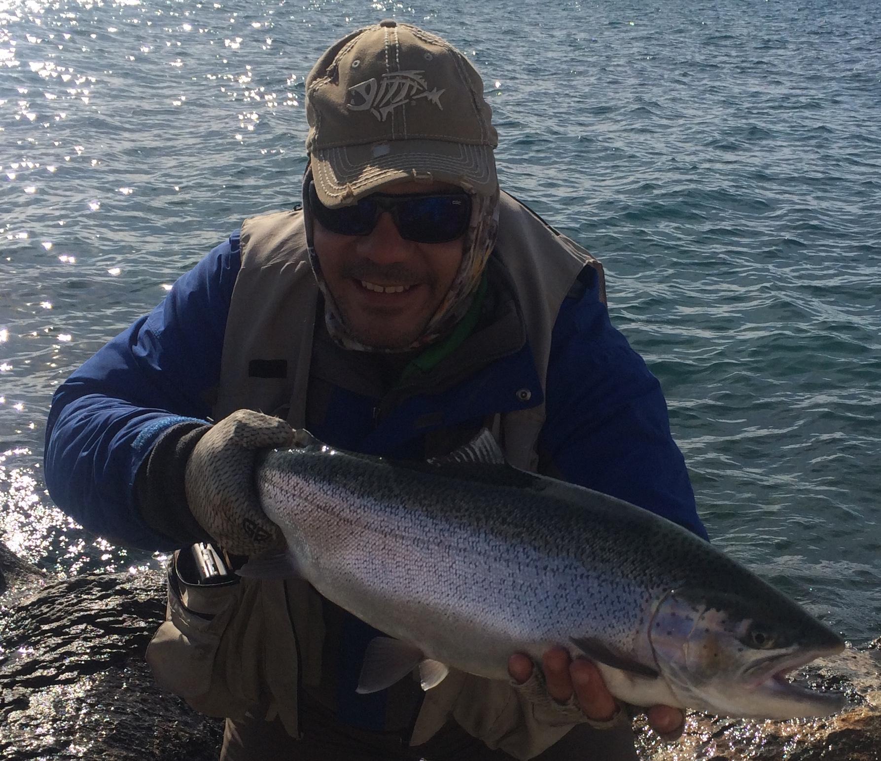 Pesca a mosca en Argentina con Pablo