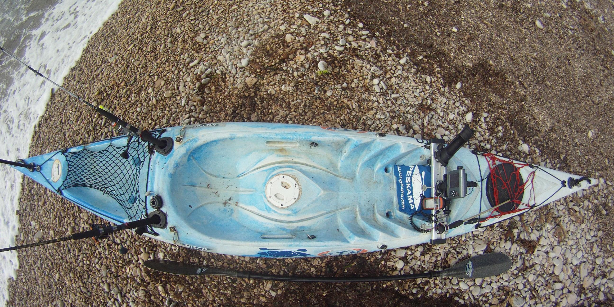 kayak de pesca tuneado