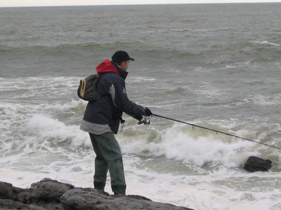pescador de spinning costero del norte