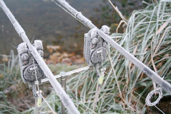 carpfishing en invierno con frio