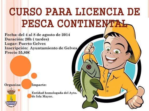 Curso para las licencias de pesca