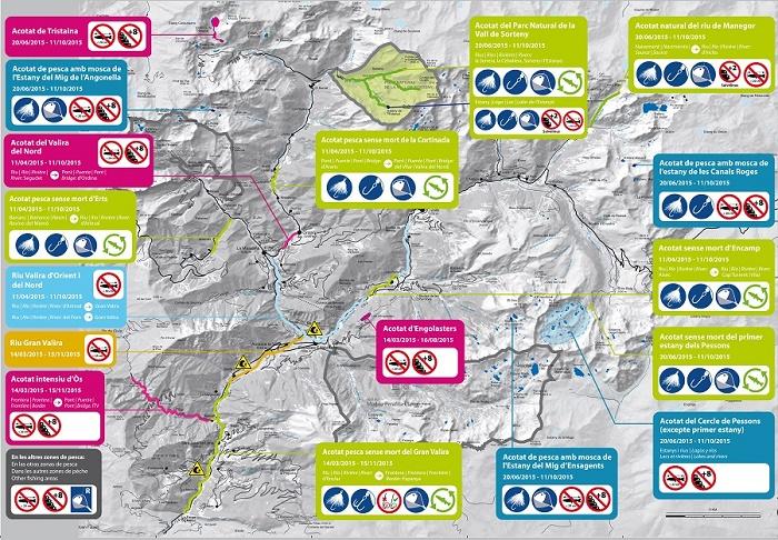Mapa de pesca en Andorra