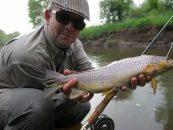 Video de pesca: grandes truchas en ríos pequeños