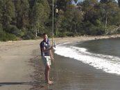 Video de pesca, el lance en surfcasting