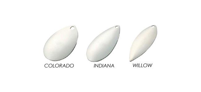 Tipos de palas en spinnerbaits