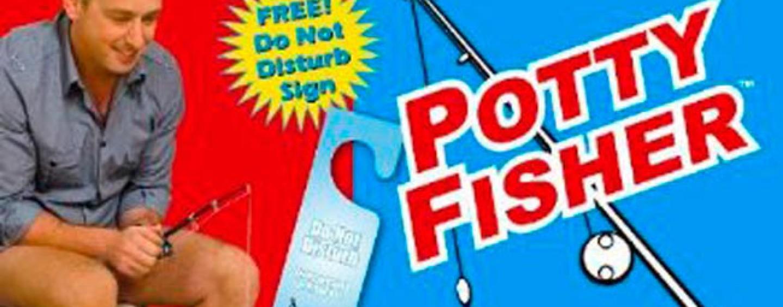 Potty fisher, un regalo para el día del padre o cualquier ocasión para pescadores empedernidos que les hará sonreir