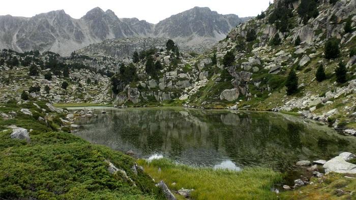 vista del Lago de Pessons (Andorra)
