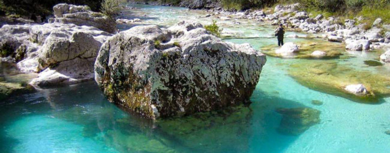 Pesca en Eslovenia: trucha marmorata y tímalo