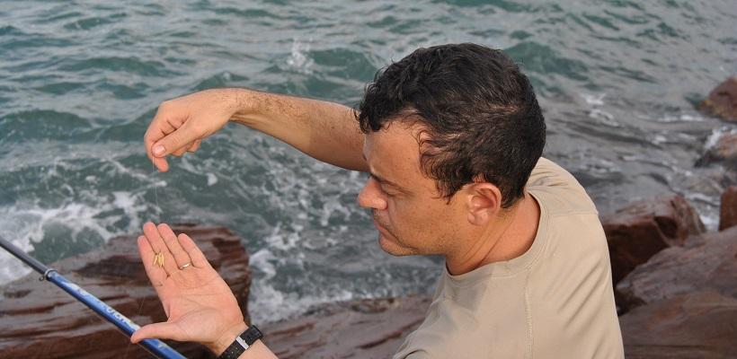 pescar con asticots en el mar