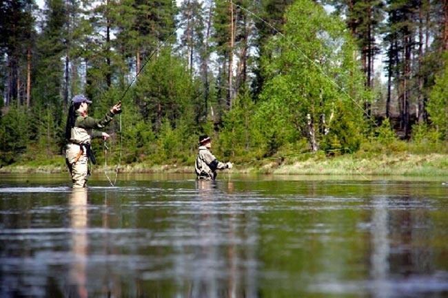 Pesca en Finlandia del Timalo