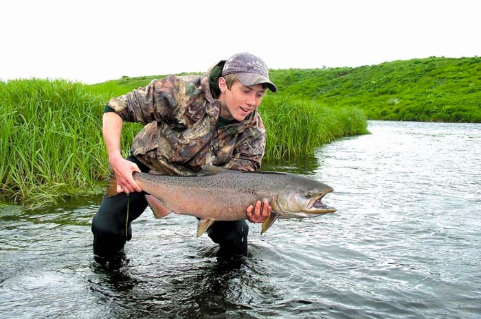 pesca en la isla Kodiak salmón chinook