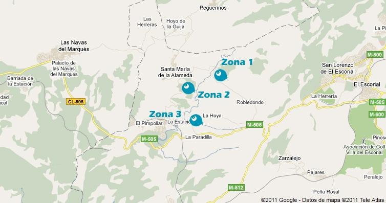 Mapa Río Aceña
