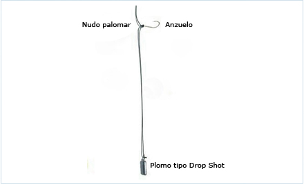 Pescar con señuelos de vinilo - montaje Drop Shot