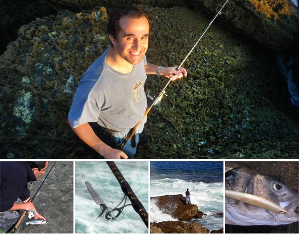 Carlos Prieto, experto pescador de spinning.