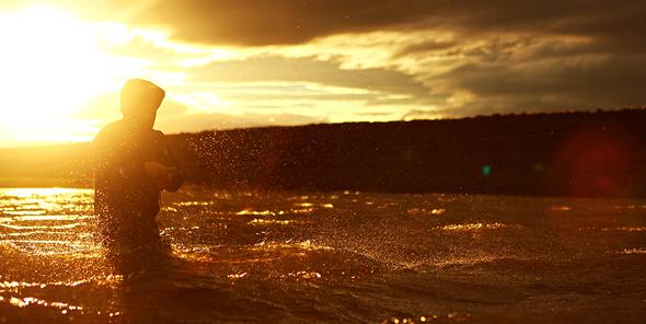 Pesca del salmón. Foto de Stephan Dombaj jr.