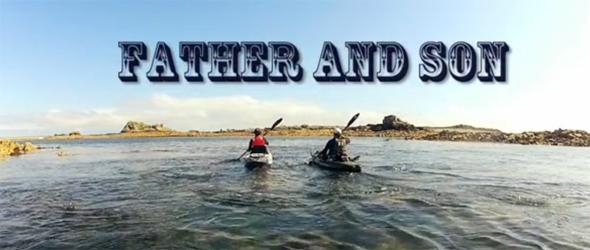 """Fotograma del vídeo """"Pesca desde kayak en la mejor compañía""""."""