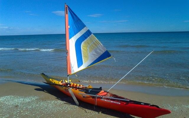 la vela como accesorios para kayaks de pesca