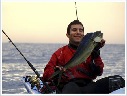 pesca llampugas desde kayak