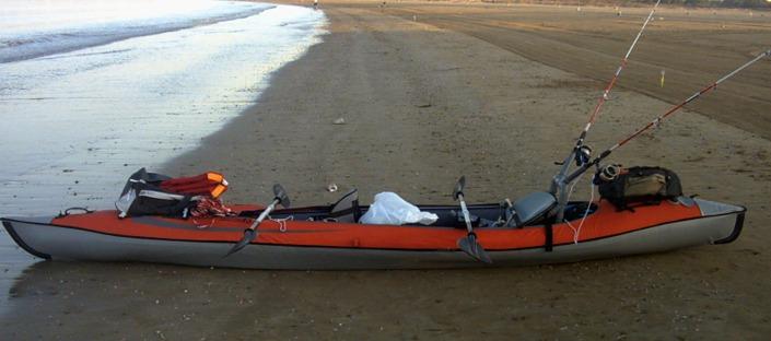 kayak de pesca inchable