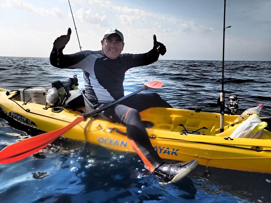 Pala de kayak asimétrica