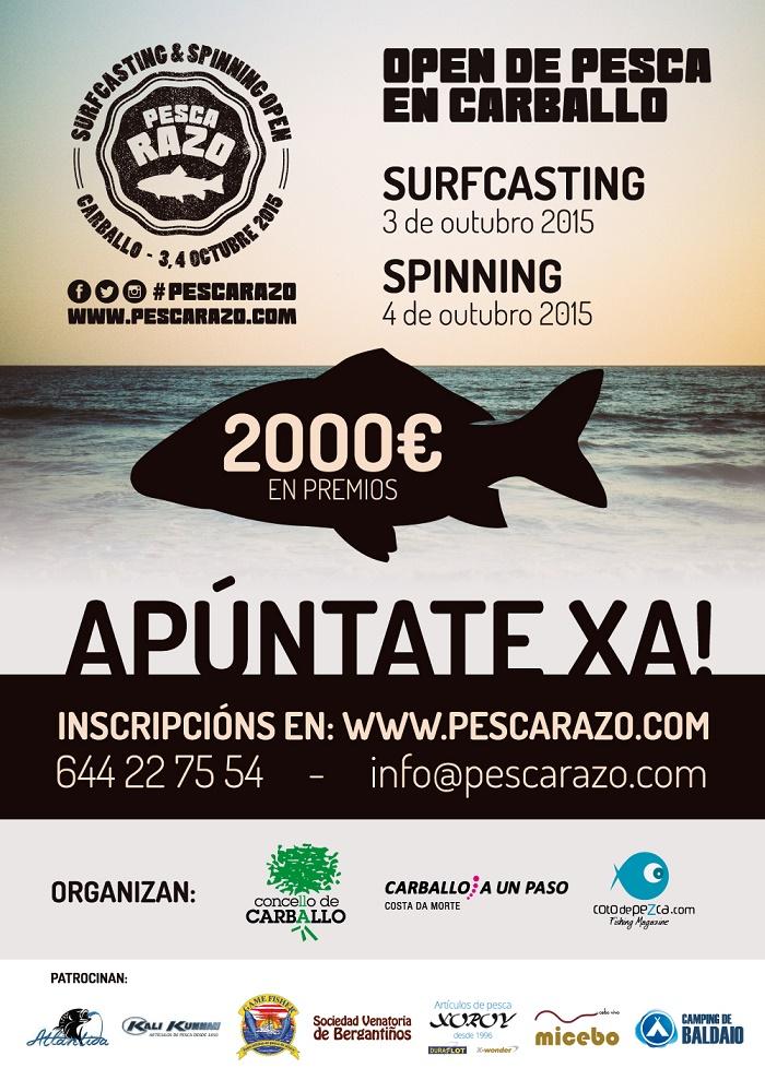Cartel I Open Pesca Razo