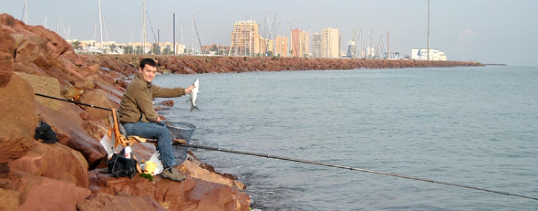 Pescar con pulga de mar al corcheo